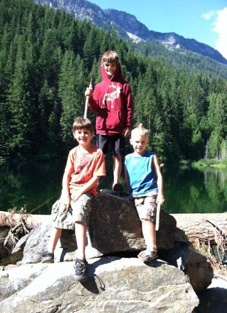 Hiking at Hidden Lake