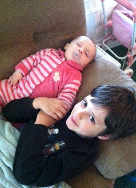 kyler and sleeping sis