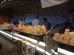 Cheeses and butter