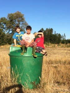 The boys have to go out and fill the water tank every morning and and afternoon so that we have enough water at the house - we are going to draw straws for kid baths soon - none have bathed since we arrived :)