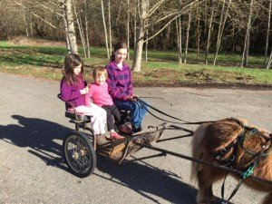 First cart ride of the new year - spring is definitely on the way...