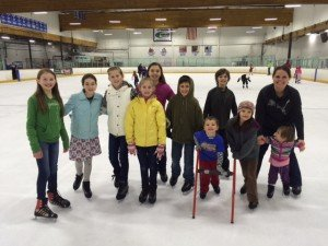 A super fun birthday afternoon ice skating with siblings and girl friends!